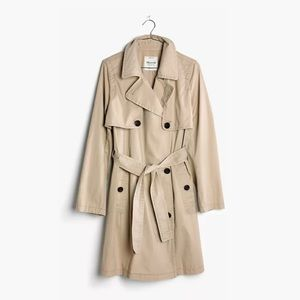 Madewell Beige Abroad Trench Coat L